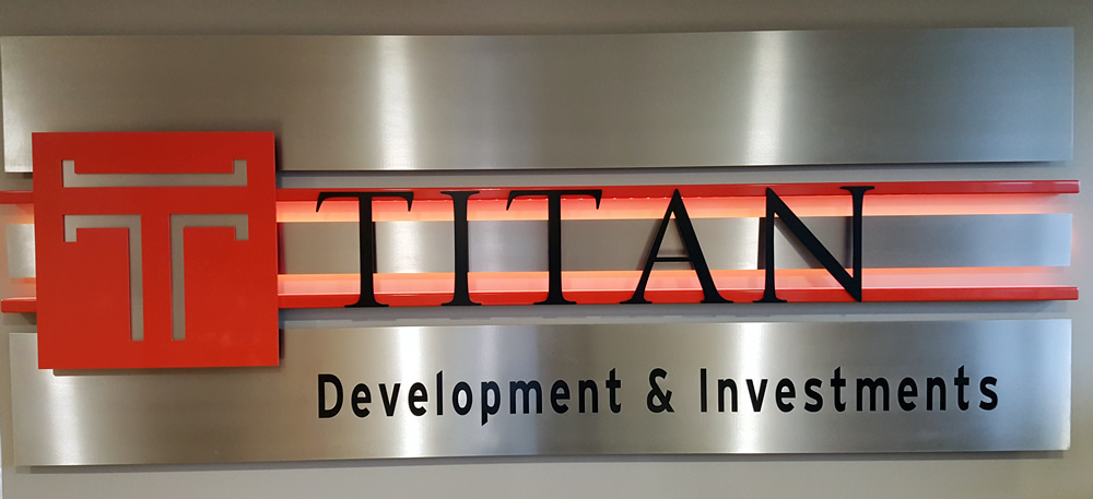 Titan Development Sign